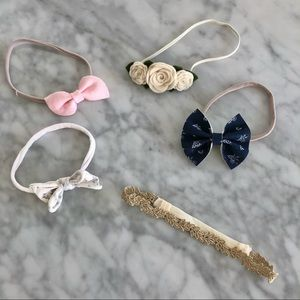 One baby bling bow lot of 5